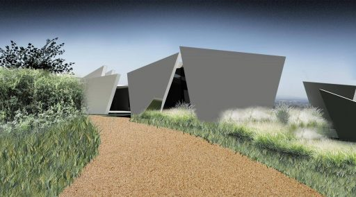 Contemporary architecture with full visualisations of the planting plans, landscape design, Devon.
